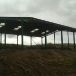 Agricultural frame and roof building
