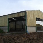 Agricultural shed completed (painted)