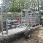 Cattle handling mobile system.