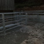 Cattle handling system's entrance