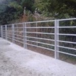 Completion stage of concreting cattle handling system .