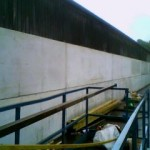 Concrete panel wall