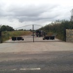 Decrotive business gates (Galvanised + painted)