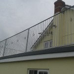 Decrotive galvanised house balcony front view