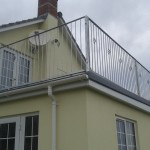 Decrotive galvanised house balcony left side