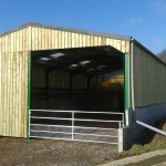 Double tear agricultural shed completed .