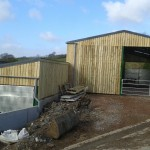 Double tear agricultural shed completed
