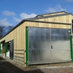 Double tear agricultural shed completed. .