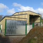 Double tear agricultural shed completed.