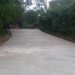 Driveway concreted out 6inches deep