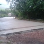 Driveway concreted out 6inches deep (middle section)