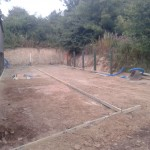 First stage of concreting cattle handling system and yard