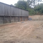 First stage of concreting cattle handling system and yard.
