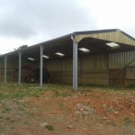 Galvanised agricultural shed
