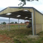 Galvanised agricultural shed.