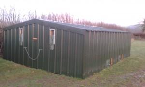 Pheasant rearing house (metal frame painted)