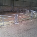 Sheep feed barriers with removable bar