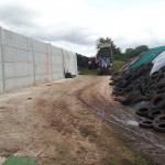 Silage pit completed