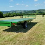 Single axel 22ft bale trailor .