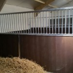 Stables - Partition with recycled plastic T+G