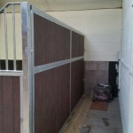 Stables - solid partition with recycled plastic T+G